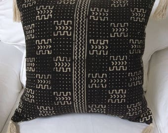 """Authentic African Mud Cloth Textile Pillow Cover 20"""" x 20"""""""
