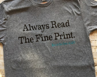 Always Read the Fine Print - Bun in the Oven AGAIN, Dad shirt, pregnancy announcement shirt