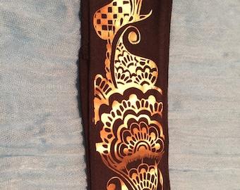 Cotton Stretch Henna Headband