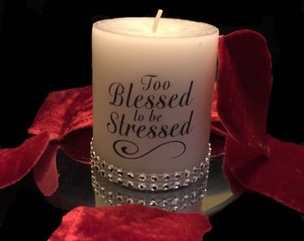 Blessed Custom bling candle