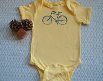 Baby Onesie with Bicycle: 12-18 months