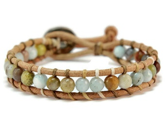 Boho Breeze * Amazonite Single Wrap Bracelet