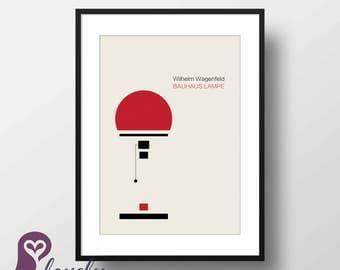 Bauhaus Lambe Poster | Wilhelm Wagenfeld | Bauhaus | Interior Design | Wall Decor | Home Decor | Prints | Poster | Digital Paper | Minimal