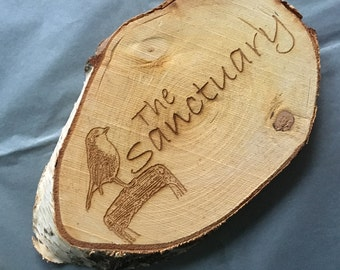 Personalised Wood Slice, Your Children's Drawing, Your Child's Art, Wooden Gift,