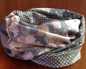double infinity scarf flowery