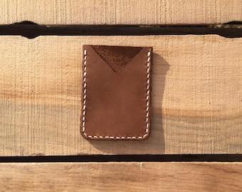 Brown Leather Card Wallet Holder