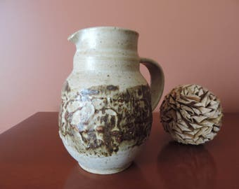 PITCHER - Pottery - CROCK - Pot with handle - volcanic pottery