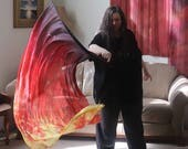 Prophetic - Silk Flag - Worship Flag - Praise Dance - Dyed Silk - Single Extra Large Long Quill Flag called Righteous Warfare