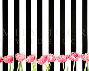 Tulips Styled Stock Image | Spring Styled Stock Image | Styled Stock Photography | Office Styled Stock Photography