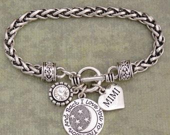 Mimi Toggle Bracelet, Family Bracelet, Aunt, Mom, Nana Bracelet