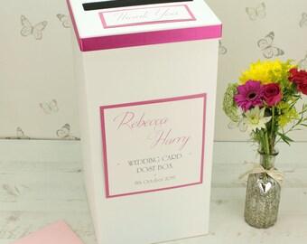 Personalised Wedding Card Post Box
