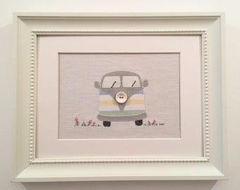 VW Campervan wall art, VW Campervan picture, VW Campervan lover.