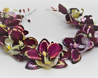 Orchid hair accessory