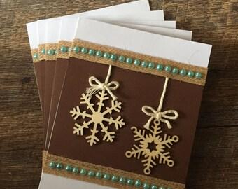 Snowflake Ornament Card - 5 Pack
