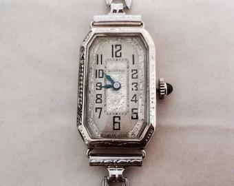 14K white gold vintage Bedforde watch