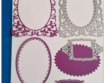 Awesome Frames and Shapes Die Set 2 piece - makes 4