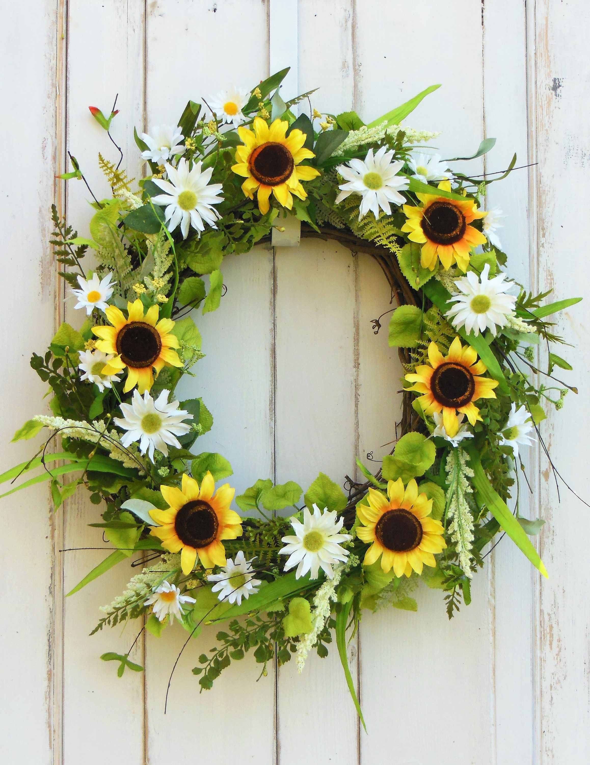 spring wreath for front doorFront Door Wreath Sunflower Wreath Spring Wreath Summer Wreath