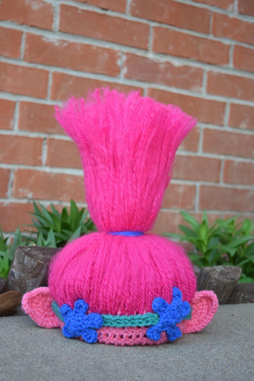 Trolls Knitting Or Crocheting Patterns : Trolls crochet hat hair princess poppy