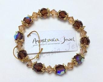 Mothers Day Gift - Exquisite Handmade Swarovski Crystal Bracelet