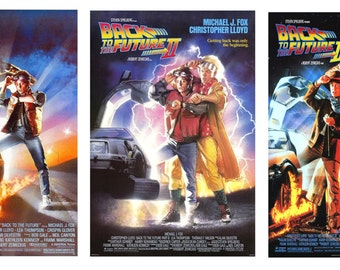 scale model movie Back To The Future theater posters assortment