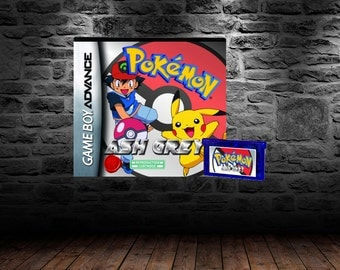 Pokemon Ash Grey - Lead anime favorite Ash Ketchum in this unique Pokemon Adventure - GBA - FireRed