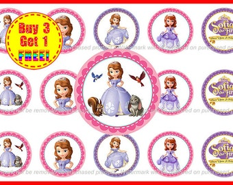 Sofia the First - Sofia the First Bottle Cap Images - Instant Download - High Resolution Images - Buy 3, Get 1 FREE