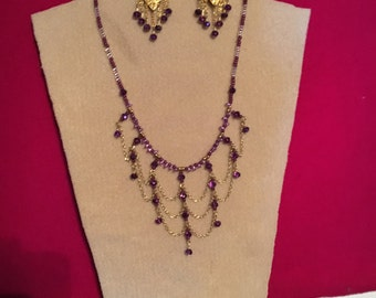 Hand Made Crystal Jewelry Set
