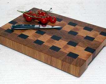 End grain cutting board / End grain chopping board / chopping block / Wooden cutting board