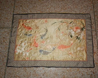 Antique Chinese Silk Hand Embroided Wall Hanging Panel (308)