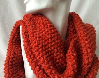 Rust Winter Hand Knitted Scarf