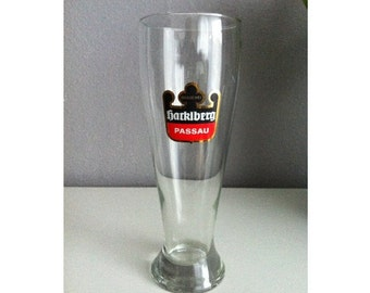 Vintage German Hackl mountain Passau wheat beer glass beer glass with pressure 0, 5 l collecting glass
