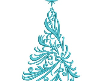 Christmas Tree Embroidery design. Christmas embroidery. Tree embroidery. Christmas design. Holiday embroidery. Machine Embroidery.