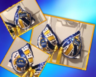 Charger Bling Bra with Ribbon and Rhinestones-themed wear-club wear-costume