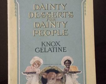 Vintage 1915  Knox  Gelatine recipe booklet