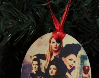 Once upon a Time Inspired Christmas Tree Ornament 2 Sided Can be Personalized NEW
