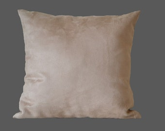 Sand pillow-cover, suede imitation furnishing-fabric, 50x50 cm/ 19,7x19,7 inch, for decorative pillow