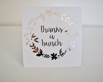 "Rose Gold Wreath ""Thanks a Bunch"" 