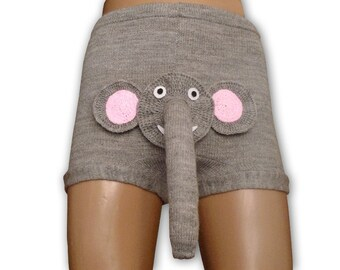 Free Knitting Pattern For Elephant Boxer Shorts : Sexy men underwear Shorts boxers Gift for him Knitted