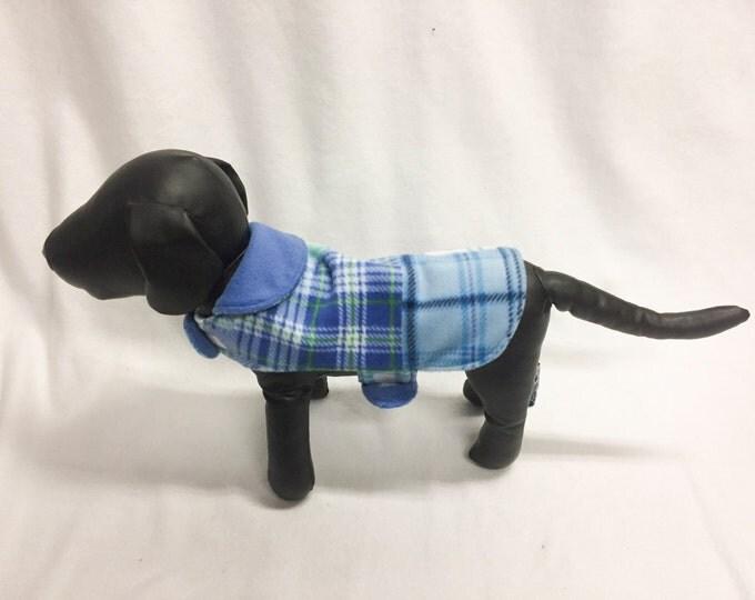 Blue Plaid Dog Coat 1027