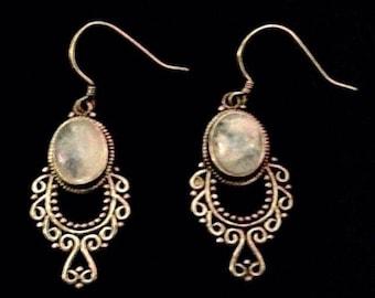 Vintage Moonstone Earrings
