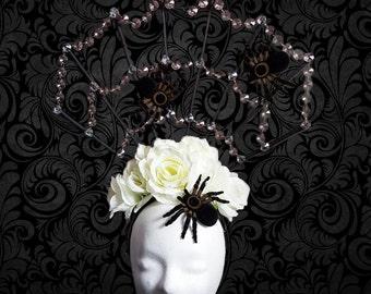 Headdress 'Spiders Web' head dress Halloween