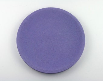 Round top in Lavender concrete / / empty Pocket concrete / / decorative concrete tray / / concrete tray / / cast-iron serving tray