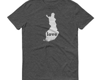 Finland, Finnish Clothing, Finland Shirt, Finland T Shirt, Finland TShirt, Finland Map, Finland Gifts, Made in Finland, Finland Love Shirt