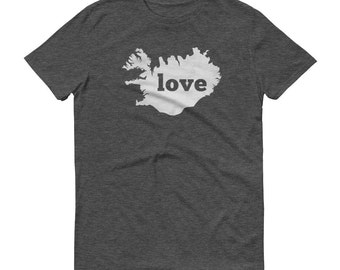 Iceland, Iceland Shirt, Icelandic Clothing, Iceland T Shirt, Iceland TShirt, Iceland Map, Icelandic Gifts, Made in Iceland, Love Shirt