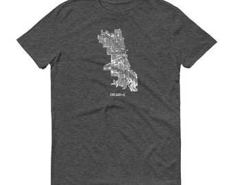 Chicago Shirt, Chicago IL, Chicago TShirt, Chicago Gift, Chicago Tee, Chicago Map, Illinois Shirt, Illinois Map, Chicago Art, Home, Travel