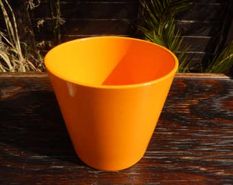 Retro Orange Germany Indoor Pot Pot, Vintage Plain Orange Pot, Terracotta