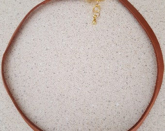 leather knotted choker