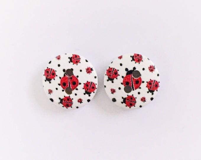 The 'Janine' Button Earring Studs