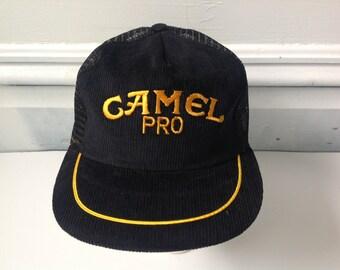 Vintage CAMEL cigs trucker hat