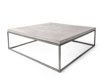 Concrete Coffee Table - Concrete Table - Concrete Top - Modern Coffee Table